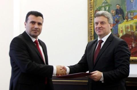 Gjorge Ivanov ia dha mandatin Zoran Zaevit