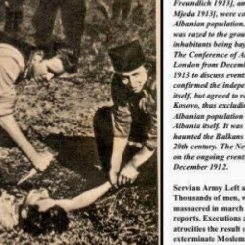 Foto e rrallë: Serbët duke ia nxjerrë zemrën shqiptarit për së gjalli