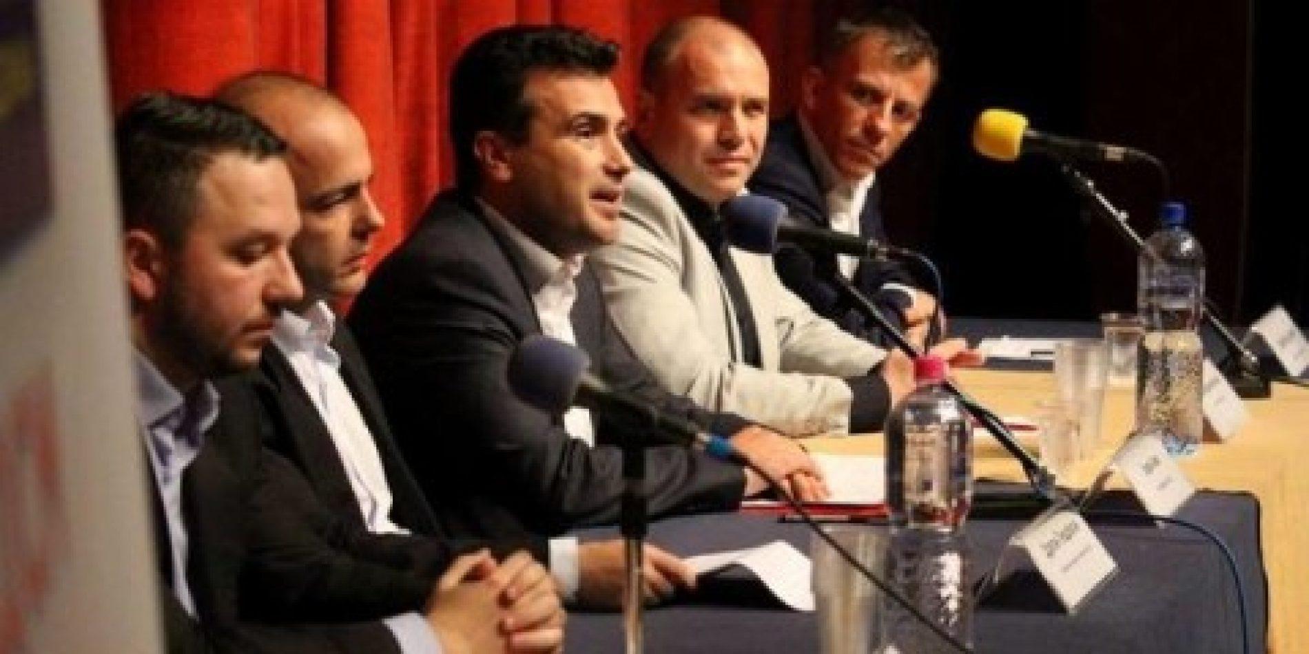 Zaev takohet me partnerët e koalicionit opozitarë për zgjedhjet