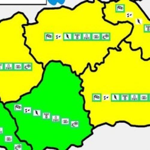Ndizet alarmi i verdhë për reshje intensive të shiut në shkup dhe rajone tjera